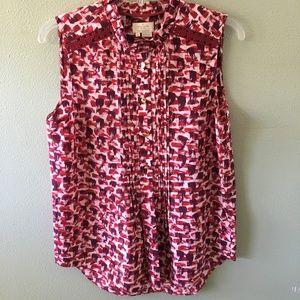 NWT kate spade silk sleeveless button down blouse